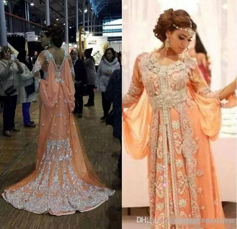 Luxury Caftan Marocain Islamic Abaya In Dubai Evening Dress Long Sleeve  Prom Gowns Moroccan Kaftan New Arrrival Real Dress Royal Blue Evening Dress  Short ... 5797c7ab8ab7