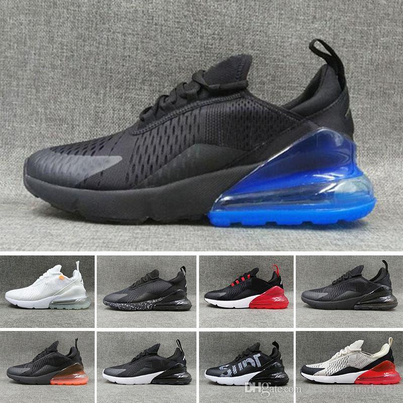huge selection of 0e251 b522d Acheter 2018 Nike Air Max 270 AirMax VaporMax 270s En Gros De Haute Qualité  Hommes Triple Noir 270 AH8050 Entraîneur Sport Casual Chaussures Femmes  Semelle ...