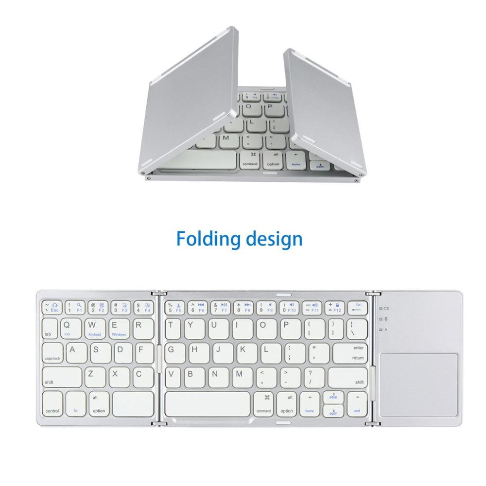48d37c0b093 Foldable Bluetooth Keyboard Pocket Size Portable With Touchpad Rechargable  Li Ion Battery For IOS Android Windows PC Tablet Best Computer Keyboard Best  ...