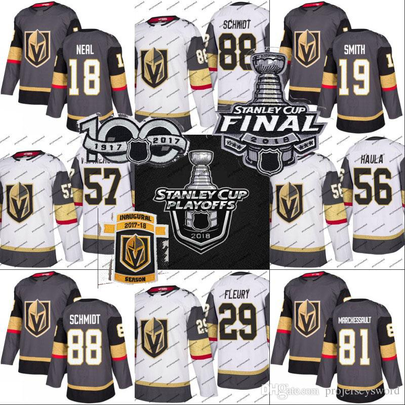 2217d7544 2019 Vegas Golden Knights 2018 Stanley Cup Final Jersey 67 Max Pacioretty 56  Erik Haula 71 William Karlsson 81 Jonathan Marchessault Jerseys From ...