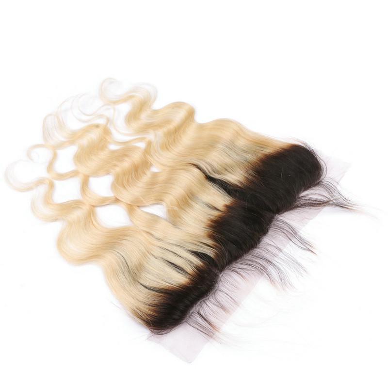 جسم موجة # 1B / 613 شقراء أومبير الحرير قاعدة 13x4 الرباط أمامي إغلاق العذراء البرازيلي التبييض شقراء الإنسان الشعر الحرير أعلى الدانتيل المقدمات