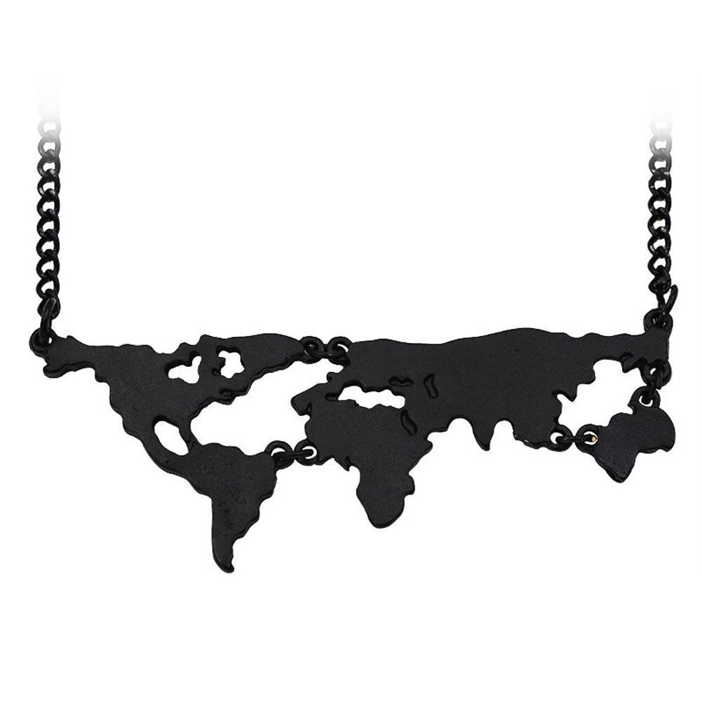 3 farben Heißer Verkauf Neue Weltkarte Anhänger Halskette Persönlichkeit Schmuck Liebhaber Kreative Geographie Besonderes Geschenk