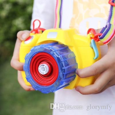 Summer children's cartoon electric bubble gun camera light music blowing bubble Toy Baby Shower Bubbles Maker Kids Outdoor Fun