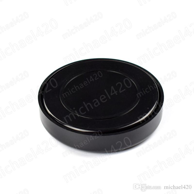 새로운 핫 세일 블랙 담배 가습기 원형 휴대용 플라스틱 담배 휴 미더 흡연 액세서리 무료 배송