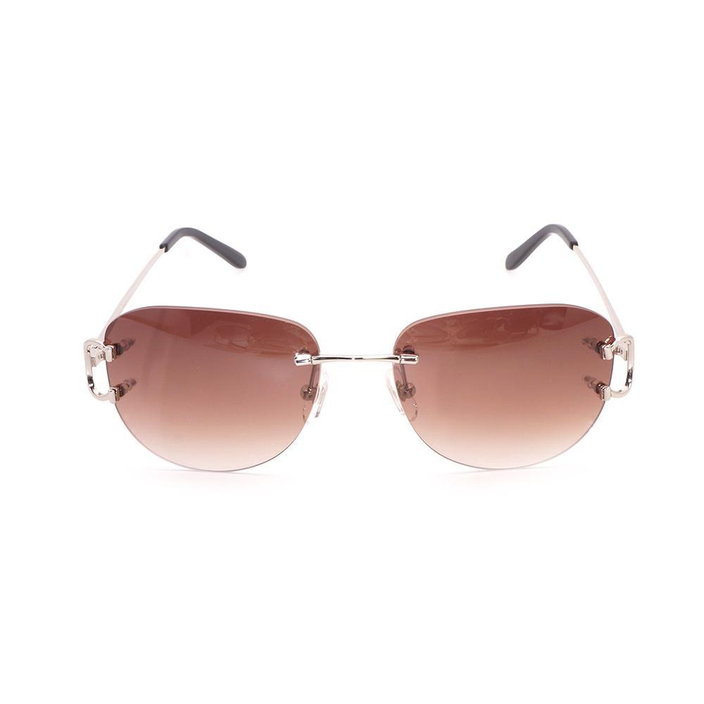 Compre Oval Vintage Óculos De Sol Dos Homens Lente Marrom Homens Óculos De  Sol Óculos De Armação De Ouro Para Ao Ar Livre Clube De Viagem Festa De ... b637f8fb44