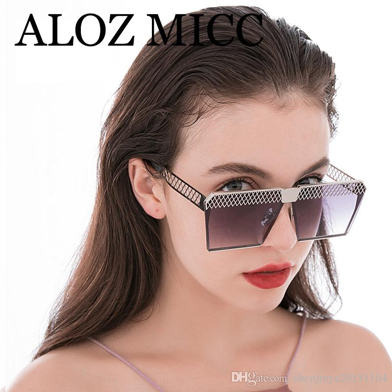 4c6aa5ab2c ALOZ MICC Women Sunglasses Luxury Brand Designer Sunglasses For Men Vintage Flat  Top Oversized Square Glasses Men Gafas De Sol UV400 W560 Victoria Beckham  ...