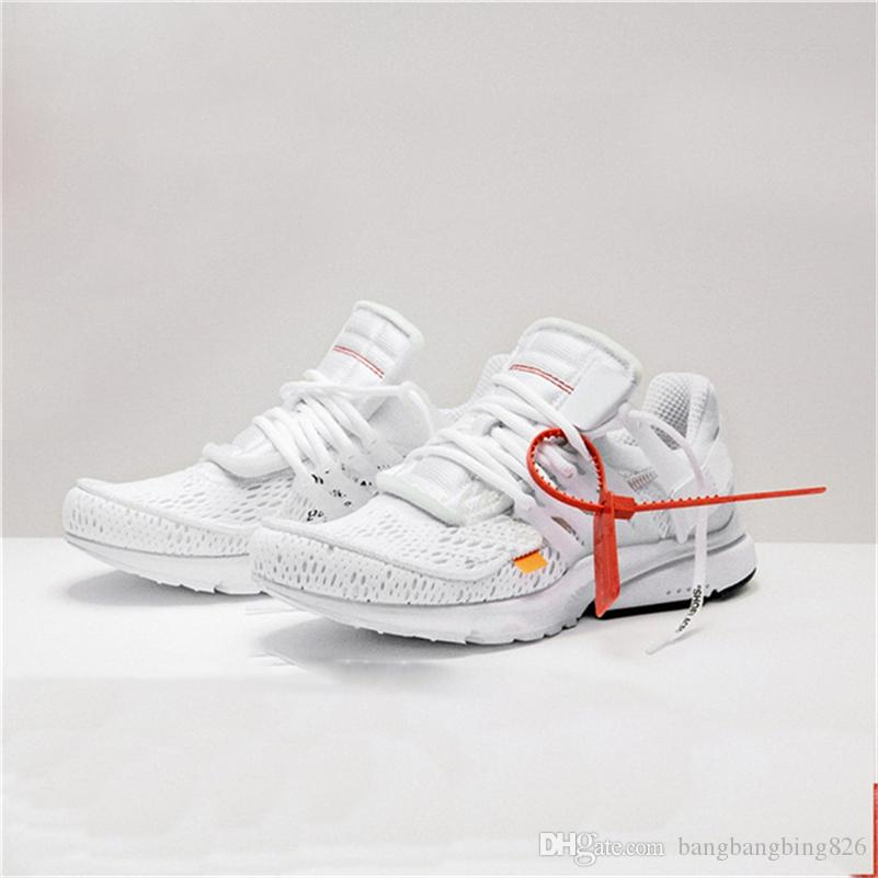 c2de2f74bdb019 2018 Authentic Air Presto 2.0 White Running Shoes For Man Women Off Sports  Sneakers With Original Box Aa3830 100 Shoes For Men Mens Running Shoes From  ...
