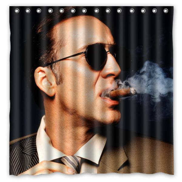 2018 Nicolas Cage 01 Custom Waterproof Shower Curtain 180x180 CM From Littleman913 3819
