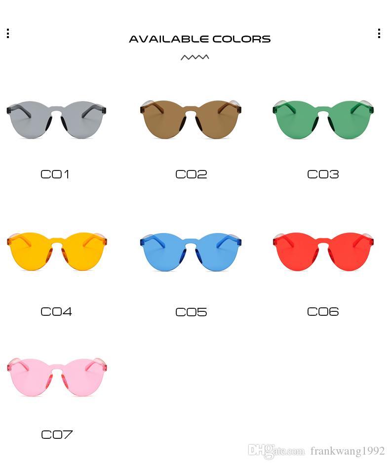 KADEGUCI Yeni Tek Parça Lens Güneş Kadınlar Şeffaf Plastik Gözlük Erkekler Stil Güneş Gözlükleri Temizle Şeker Renk Marka Tasarımcısı K0186