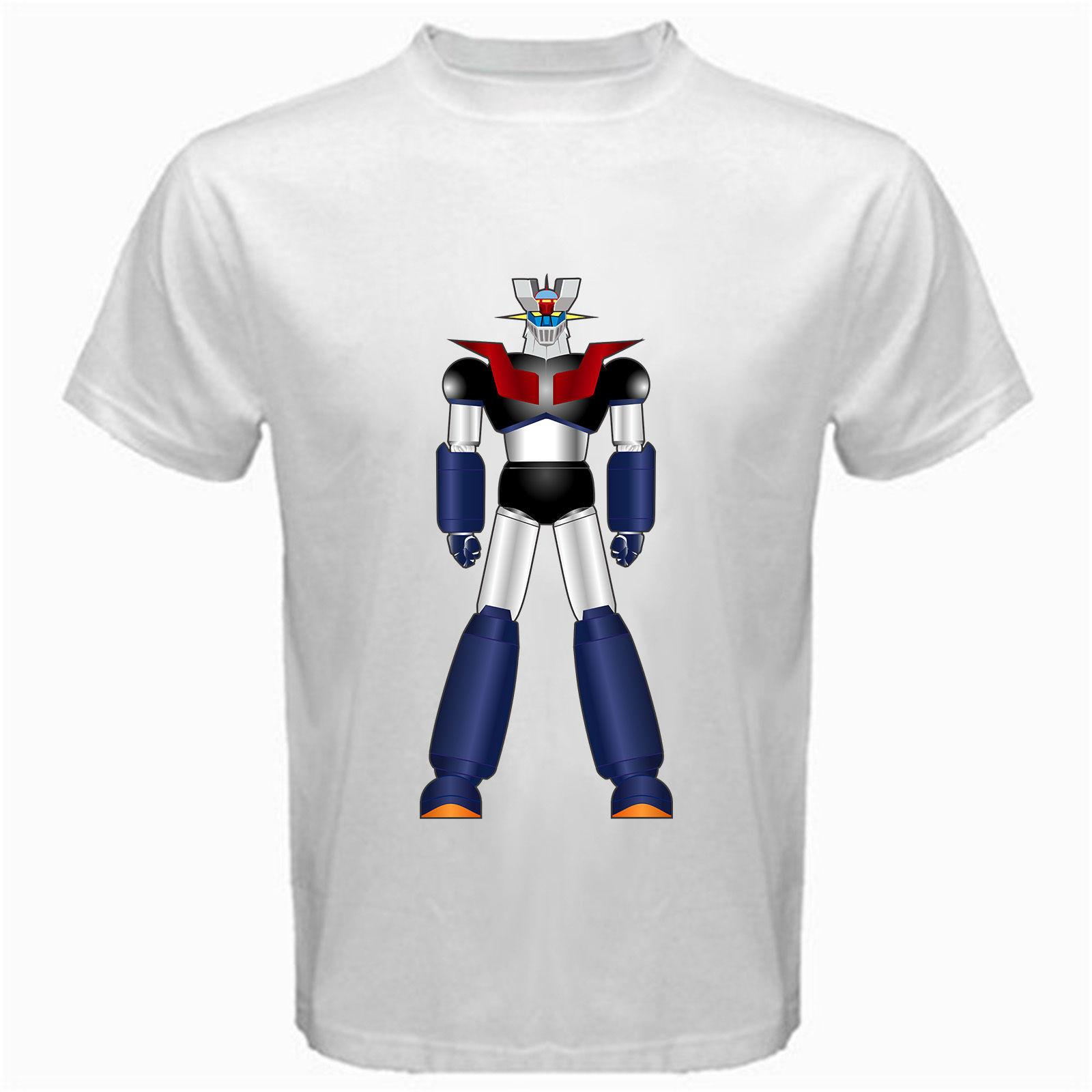 Mazinger Z M7 anime shin classico manga robot movie T-Shirt bianco mecha Print T shirt Uomo manica corta TOP TEE Fashion Summer Top Tee