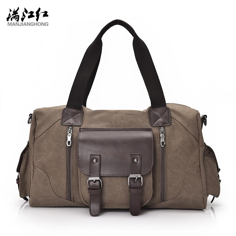 57c6816c5 Fashion Canvas Leather Men Travel Bag Large Capacity Men Hand Luggage  Travel Duffle Bags Weekend Bags Multifunctional Tote Bag Leather Purse  Womens Purses ...
