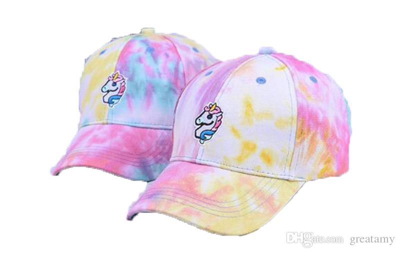 349c0aec839 2019 Unicorn Cap Colorful Rainbow Embroidered Baseball Caps Cute Summer Sun  Baby Boys Girls Adult Duck Hat From Greatamy