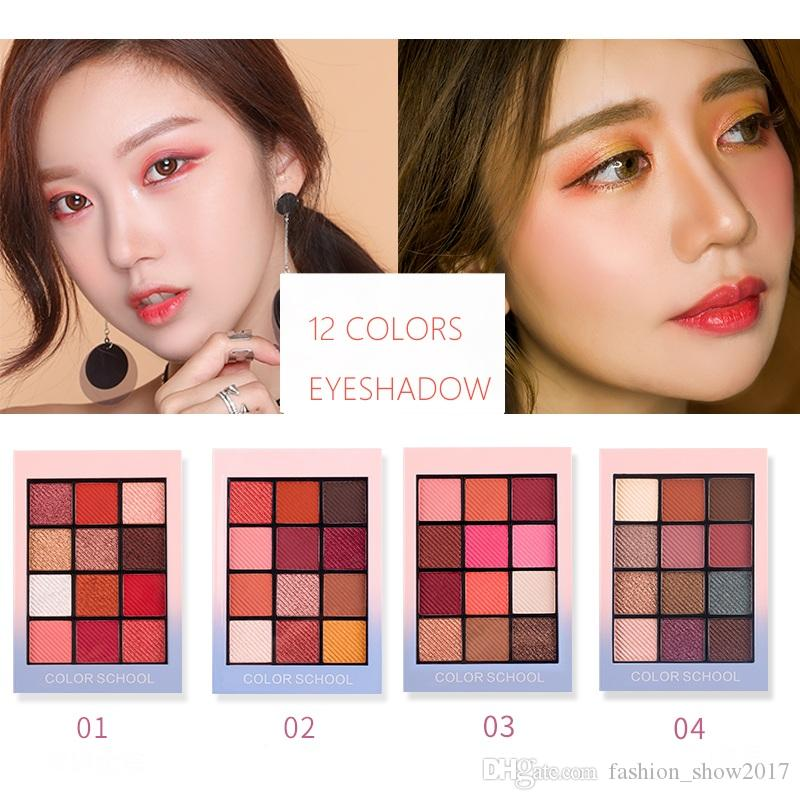 Beauty Essentials Sincere New Hold Live 12 Colors School Shimmer Matte Eyeshadow Palette Waterproof Red Pigment Eye Shadow Powder Nude Korean Makeup Brand Beauty & Health