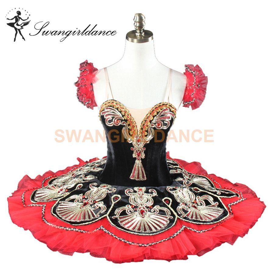 3f7329ae59 Compre Harlequinade Black Red La Esmeralda Quebra Nozes Ballet Tutu  Crianças Mulheres Tutu Traje Do Traje Pancake BT9077 Profissional De  Swangirl