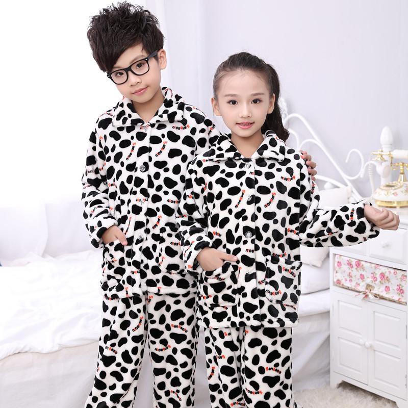 Autumn And Winter Kids Pajamas Set Coral Fleece Warm Child Sleepwear  Flannel Fabric High Quality Kids Pajamas Sleeping Clothes Boys Short  Pajamas Children ... c15b1b850