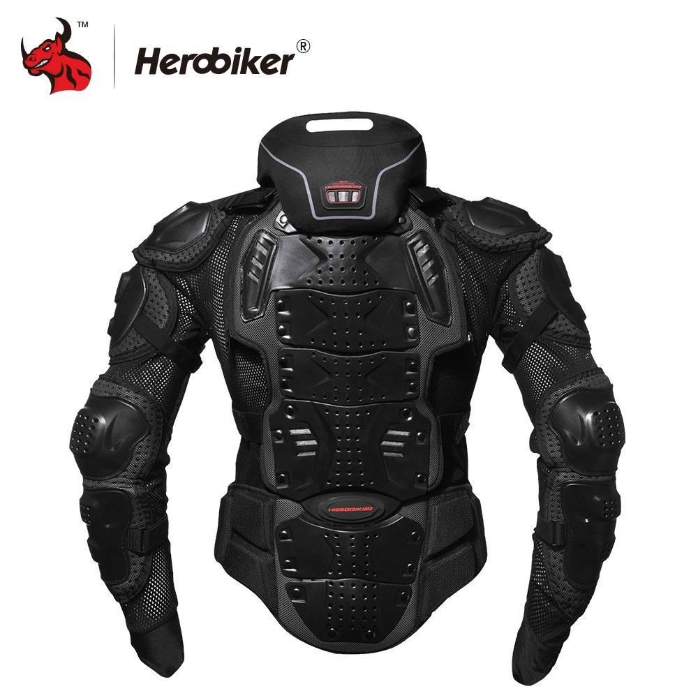 863eabdfff6 Compre HEROBIKER Motocicleta Armor Off Road Racing Body Protector Chaqueta  Motocross Moto Chaqueta Motocicleta Chaquetas + Protector De Cuello A   101.09 Del ...