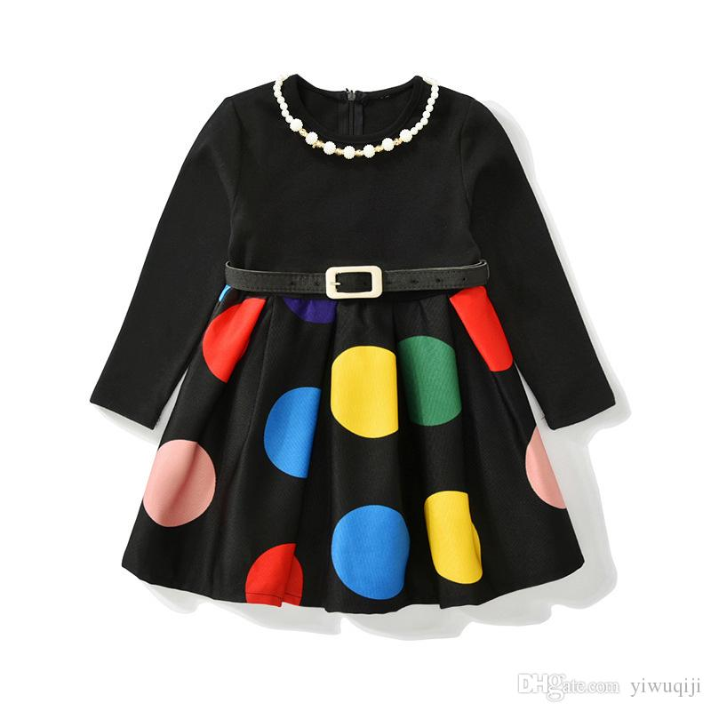 ff4d92c014c2 2019 Europe Kids 2018 Autumn Winter Girls Dress Long Sleeve Dot Christmas  Princess Dresses Infantil Dress Girl Clothes From Yiwuqiji, $8.53 |  DHgate.Com