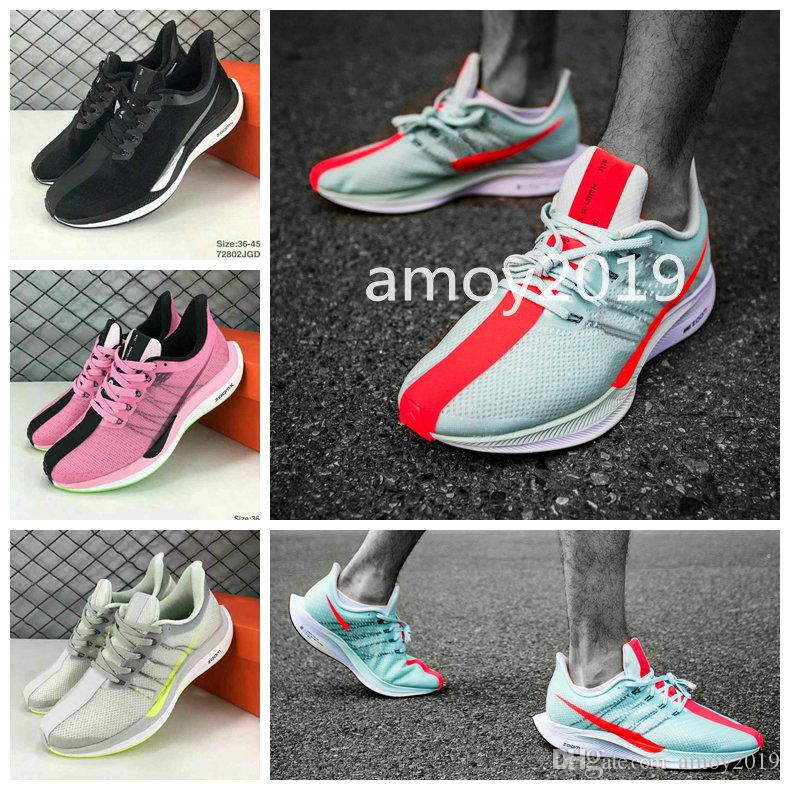 2018 Zoom Pegasus Turbo Barely Grey Hot Punch Black White Running Shoes Men  Women React Zoom X Vaporfly Pegasus 35 Trainers Zapatos 36-45