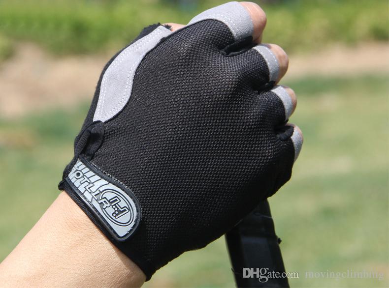 Gel Bike Half Finger Cycling Gloves Fingerless Bicycle Anti Skid Gloves Short