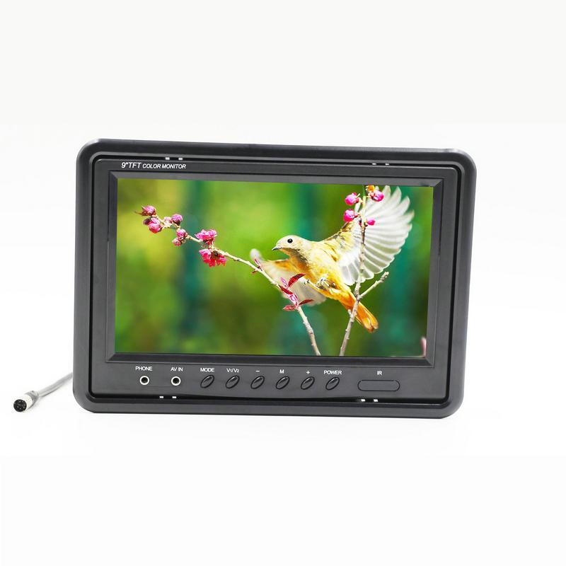 DHL 9 pulgadas HD 2 Entrada de video 2 Pantalla de video cuádruple dividida Monitor TFT LCD para automóvil Vista posterior Monitor