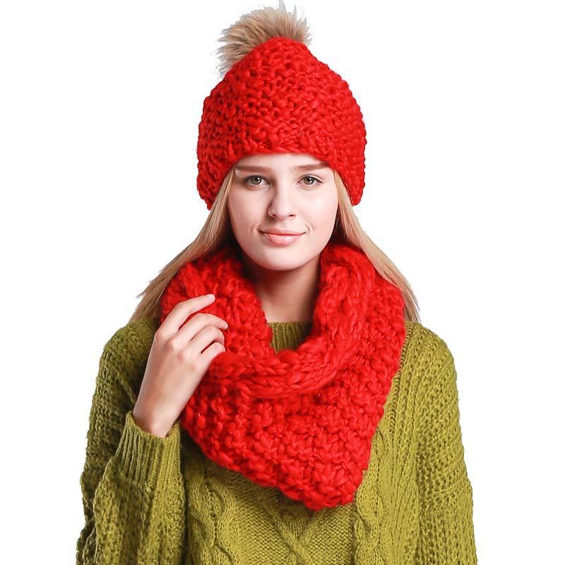 2019 Fashion Set Women Hat Scarf Winer Cap And Scarf Women Female Warm  Woollen Knitted Ensemble Bonnet Echarpe From Mangocc,  26.74   DHgate.Com 52ce3b60b98