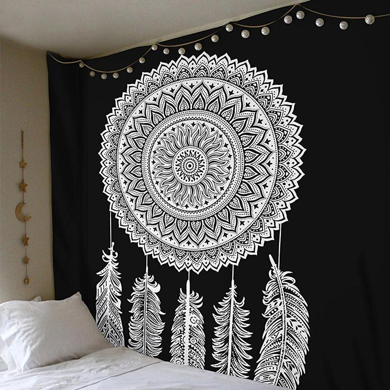 Indian Mandala Muslim Tapestry Hippie Wall Hanging Blanket Beach Shawl  Multifunctional Bohemian Decorative Feather Tapestries Yoga Mats Oriental  Tapestry ... 1228485f1