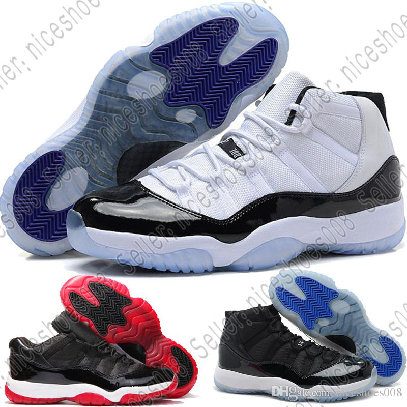 buy popular a49e0 d6d3e 2018 Nike Air Jordan Aj 11 Zapatillas De Baloncesto Prom Night 11 11s  Concord Gym Rojo Midnight Navy Bred Space Jam University Azul Concord Men  Sport ...