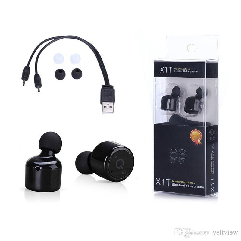 4b5b0ee87de X1T Twins Mini Bluetooth Headphones In Ear Earbuds True Wireless Earphones  CSR 4.2 Sport Stereo Earphone With Retail Packaging Headset For Cell Phones  ...