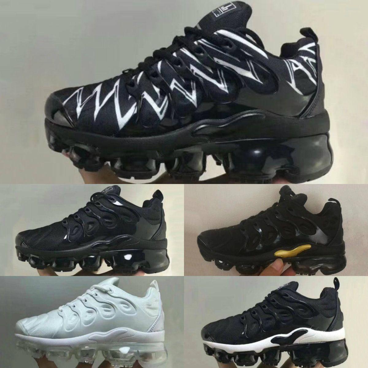 VM New TN Noir Plus Blanc Acheter 2018 Enfants Vapor Chaussures 4RAj35Lq