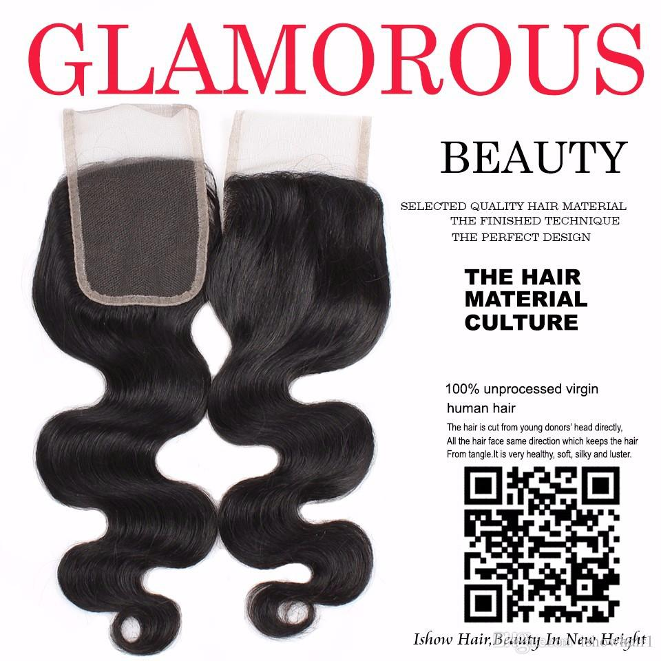 10A 4*4 Premium Cheap Peruvian Body Wave Human Hair Lace Closure Top Quality Unprocessed Brazilian Indian Malaysian Virgin Human Hair Weave