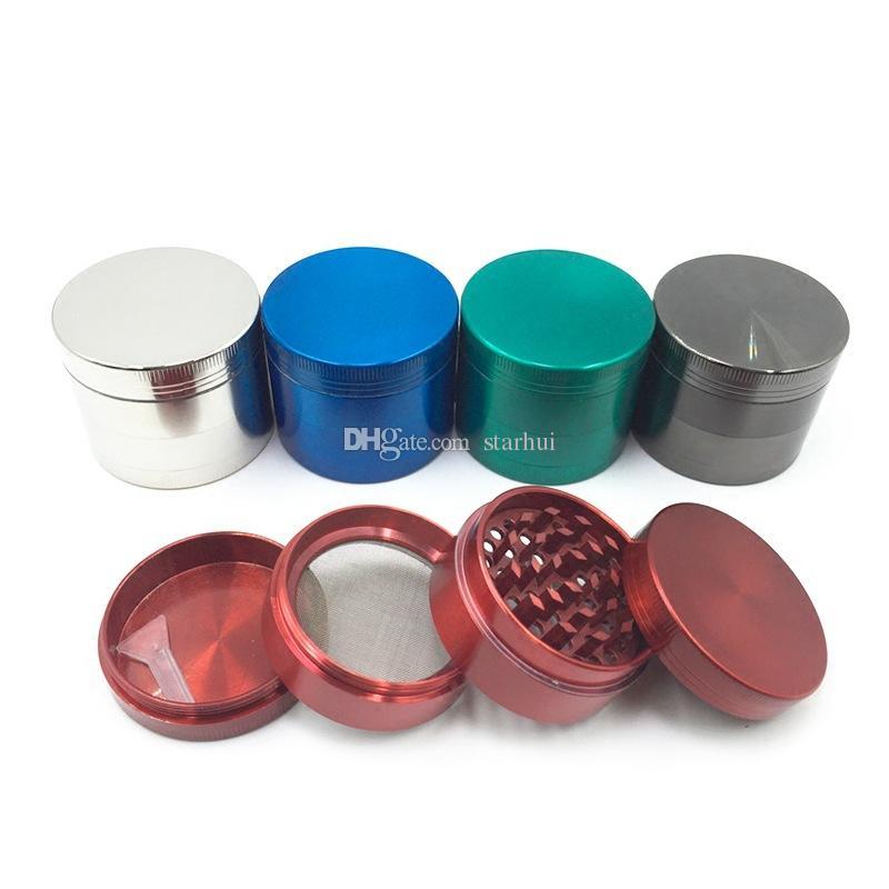 New Smoking Grinder Herb Grinder Metal Teeth Tobacco Filter Grinder Tools Mix Color 40mm 50mm 55mm 63mm 75mm WX9-536