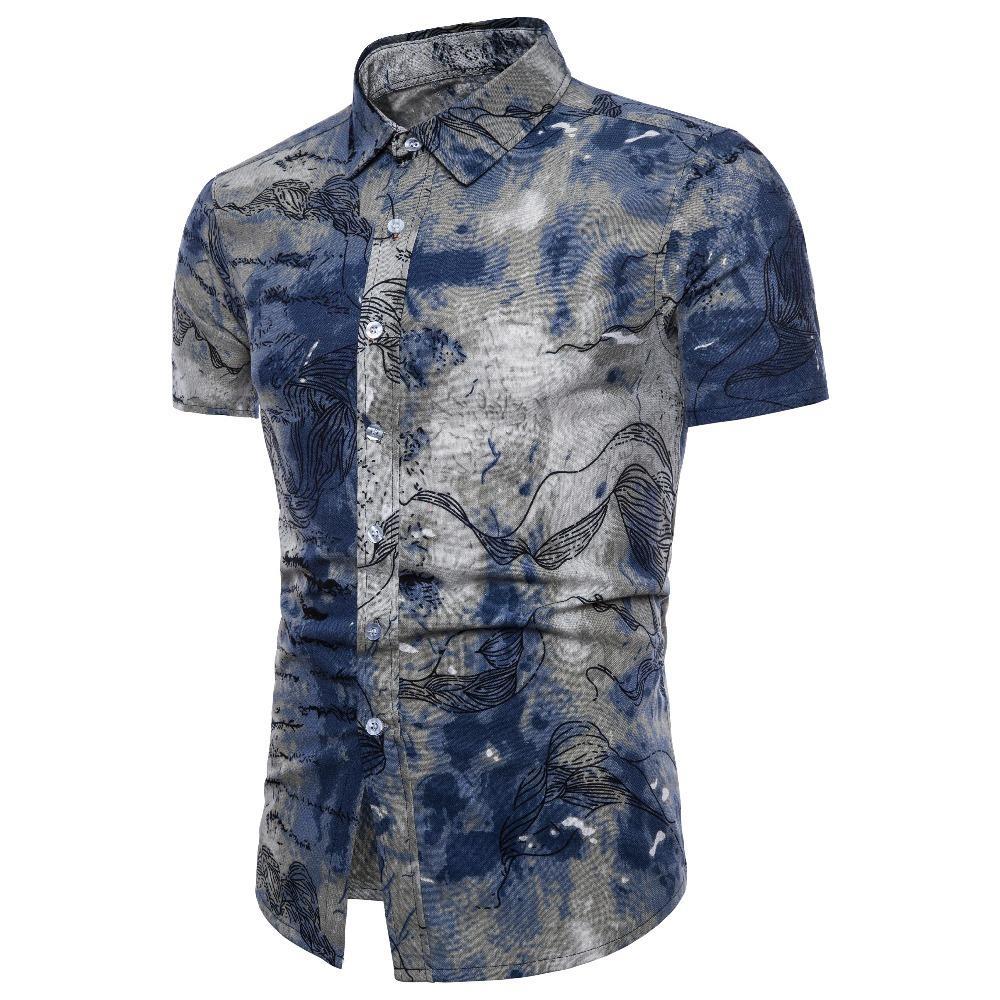 6a4d63b3b 2019 2018 Fashion Mens Short Sleeve Hawaiian Shirt Summer Casual Floral  Shirts For Men Asian Size M 5XL From Mujing, $108.98 | DHgate.Com