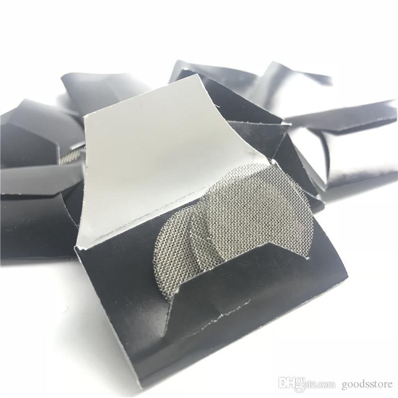 Schermi di tubo di vetro fumatori con 20 millimetri di nastro in acciaio Schermato di filtro Ccreen secchiello di vetro di tabacco a base di erbe fumatori 5 pezzi / set