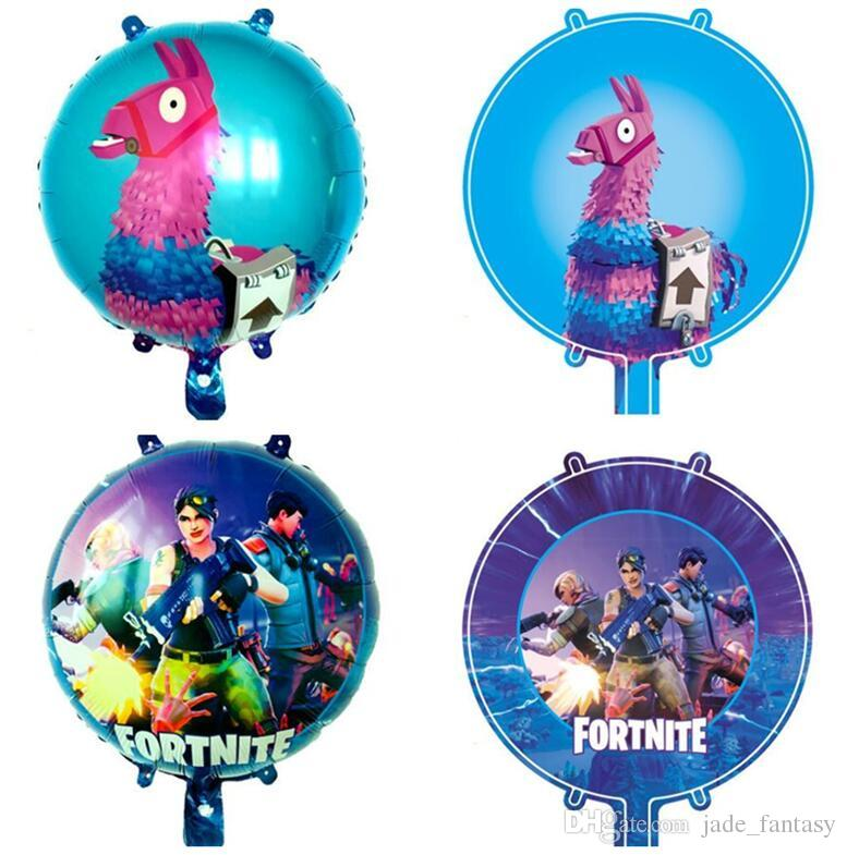 Delivery Moogle Birthday Card Final Fantasy Themed: 2019 Fortnite Balloons Fortnite Aluminum Foil Balloon Kids