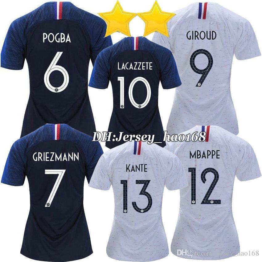 0f633f963 2019 18 19 MBAPPE Womens Soccer Jerseys DEMBELE GIROUD 2018 2 Stars 2019  THAUVIN GRIEZMANN Womens Football Shirt POGBA Woman Soccer Shirt From  Jersey hao168 ...