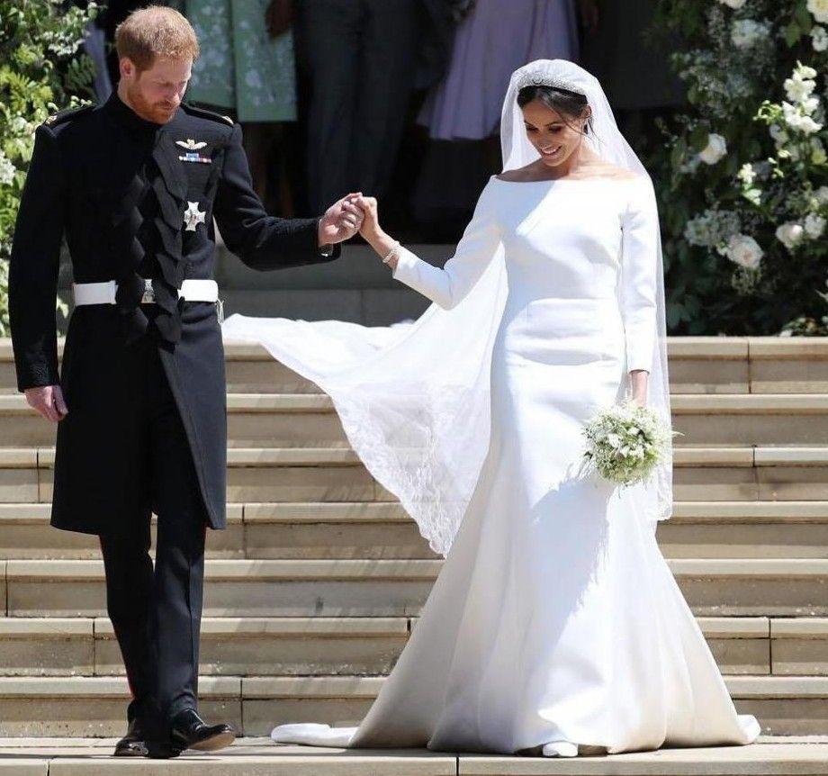 Megan Wedding Dress: 2018 New Arrival Harry And Megan Royal Modest Wedding