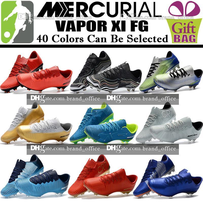 69a6ef2d00b0 Cheap Sale Men Low Soccer Cleats Mercurial Vapor XI FG Soccer Shoes Mercurial  Superfly Vapor CR7 Neymar BHM Football Boots Cristiano Ronaldo Little Girls  ...