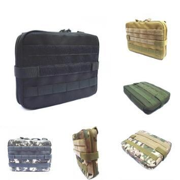 5 Colors Outdoor Military MOLLE Admin Pouch Tactical Pouch Multi Medical Kit Bag Utility Pouch Outdoor Camping Hunting Bag CCA10374 30pcs