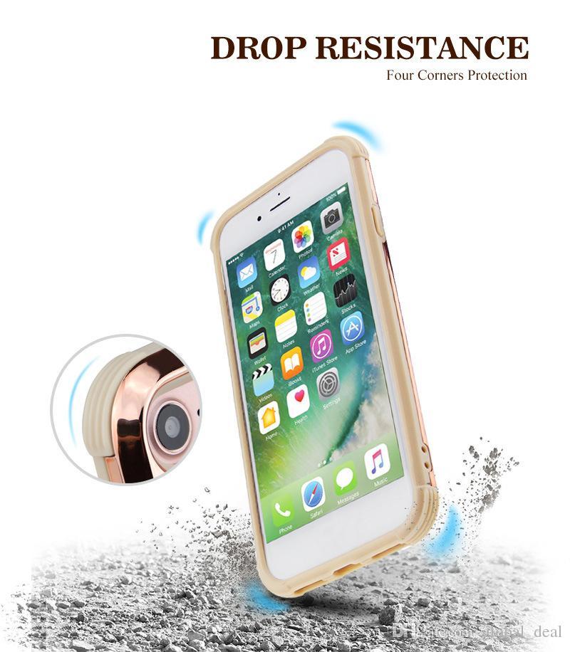 Prim iphone için 1 Lüks elmas taklidi parıltı arka kapak telefon durumunda 7 5 6 6s artı s9 s9plus vakalar 2 bling
