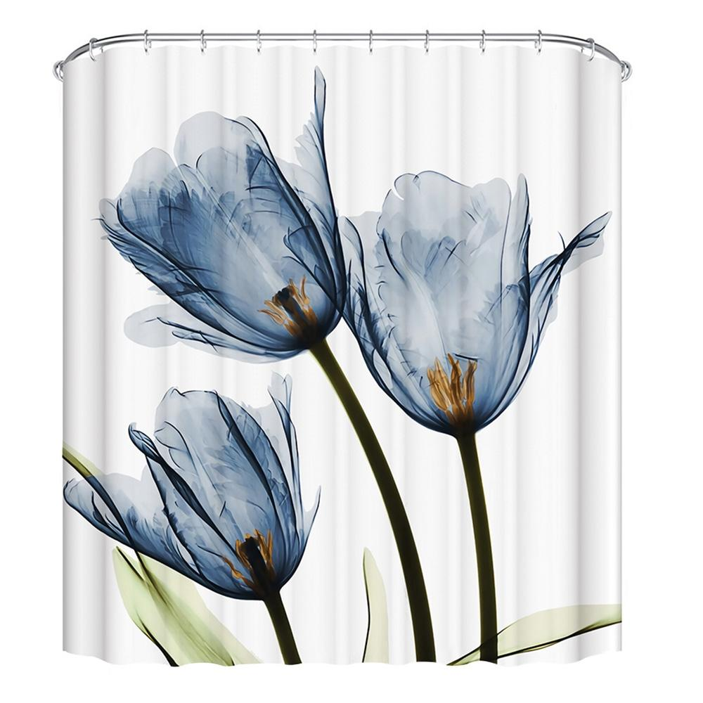 2019 3D Printing Lotus Shower Curtain Set With 12 Hooks 180 X 180cm From Xuxiaoniu5 212