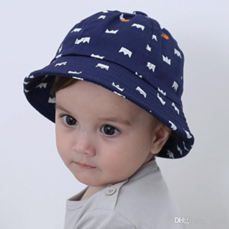 4fbebc61 2019 Fashion Baby Girls Boys Sun Hats Cotton Blend Cap Newborn Crown Print  Fishing Cap Infant Summer Sunshade Bucket Hats From Gomo, $2.1 | DHgate.Com
