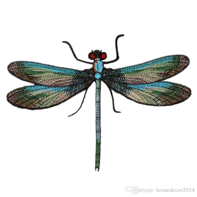 20cm Sewing Embroidery Patch Dragonfly Embroidered Patches Badges