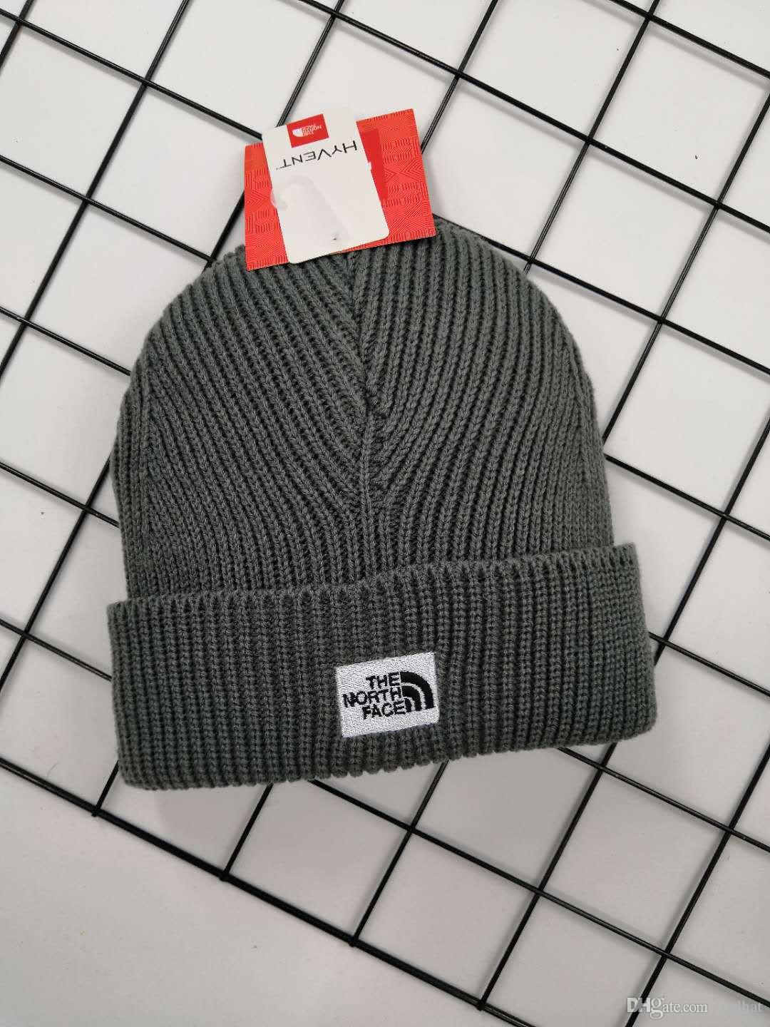 6bf0c8f661b 2018 Fashion Beanies Brand NORTH Men Autumn Winter Hats Sport Knit Hat  Thicken Warm Casual Outdoor Hat Cap THE FACE Beanie Skull Caps Beanies Hat  Online ...