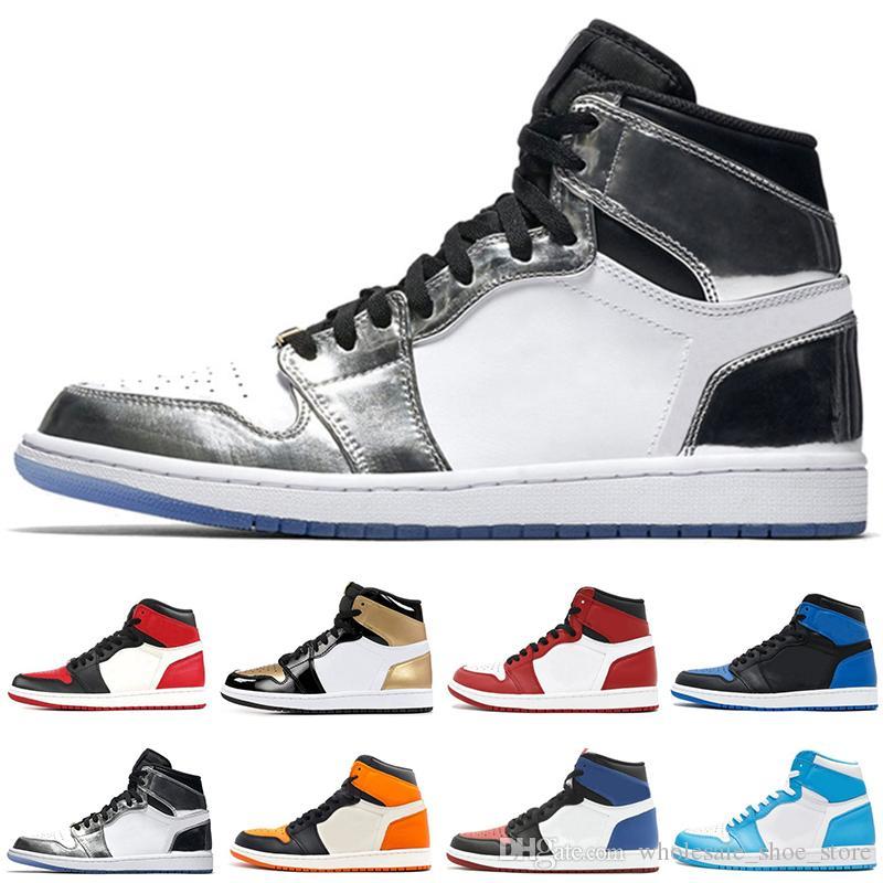 9de3caba3aa3e 2018 NEW 1 OG Basketball Shoes Bred Banned Top 3 Royal Reverse ...