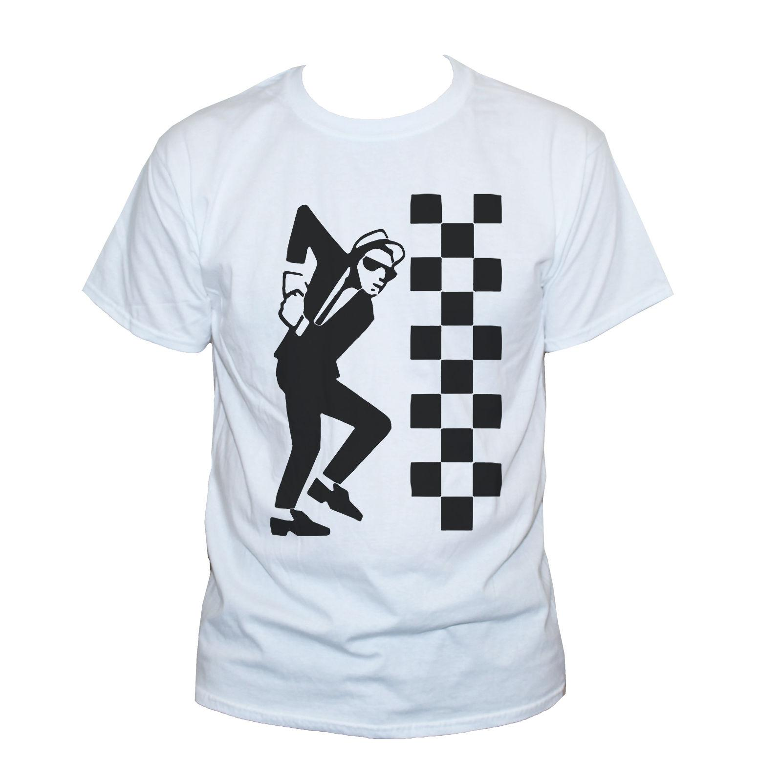 64c6c6e7d Ska Dude Two Tone T Shirt Specials Reggae Cool Graphic Music Band ...