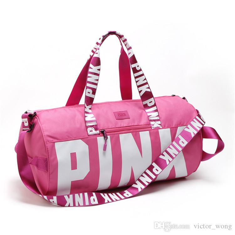 Love Pink Storage Bag Big Large Pink Men Women Travel Bag Hangbag Waterproof Duffel Bags Luggage Bags
