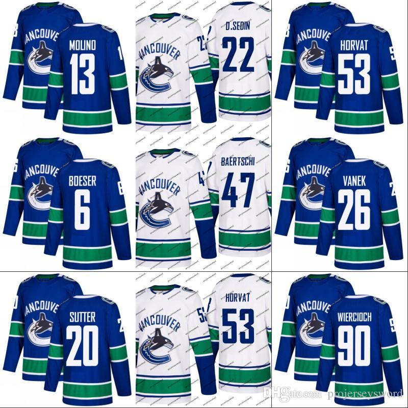 b3d227ef41a 2019  6 Brock Boeser Jersey Vancouver Canucks 25 Jacob Markstrom 2 Luke  Schenn 15 Ryan Spooner 53 Bo Horvat 70 Tanner Pearson Hockey Jerseys From  ...