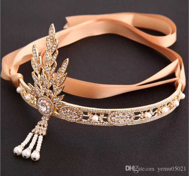 wholesale Baroque Queen Full Round King Bride Tiara Crown For Women Headdress Prom Bridal Wedding Tiaras Crowns Hair Accessories Jewelry