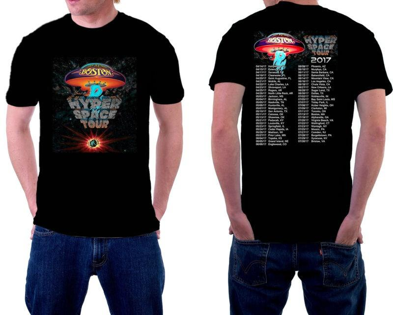fca6b42f Personality Boston Band Classic Rock Hyper Space Tour 2017 T Shirt Black  Short Sleeve Men Fashion 2018 Crew Neck Tees Designer T Shirt Coolest T  Shirts From ...
