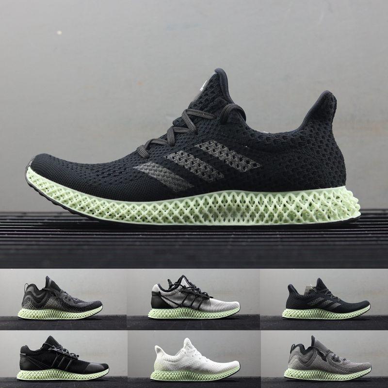 a29af9939090 Futurecraft 4D Alphaedge LTD Aero Ash Green Print Black White Grey Men  Running Shoes Sports Sneakers Trainers With Original Box Size 12 Futurecraft  4d 4d ...